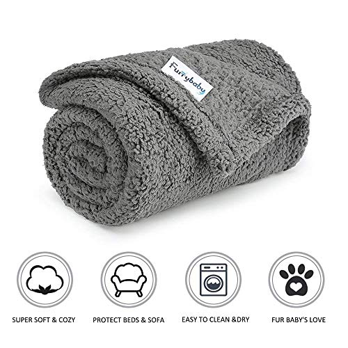 furrybaby Premium Fluffy Fleece Dog Blanket, Soft and Warm...