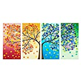 Anself 120 * 57cm DIY Kits de Broderie Point de Croix Motif d'arbre Décoration Chambre