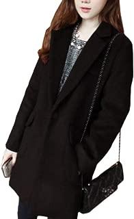 Womens Warm Winter Double Breasted Wool Blend Long Pea Coat Outwear
