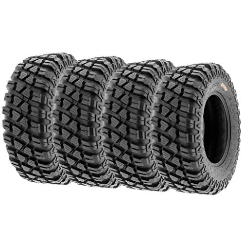Set of 4 SunF A047 XC MX Hardpack UTV SxS Dual Sport Tires 28x10-14, 6 PR, Tubeless, all terrain off-road