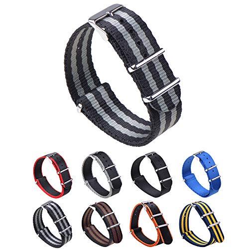 Gemony Nato Strap Premium Ballistic Nylon Watch Band, Larghezza di banda 18mm 20mm 22mm,WB-129