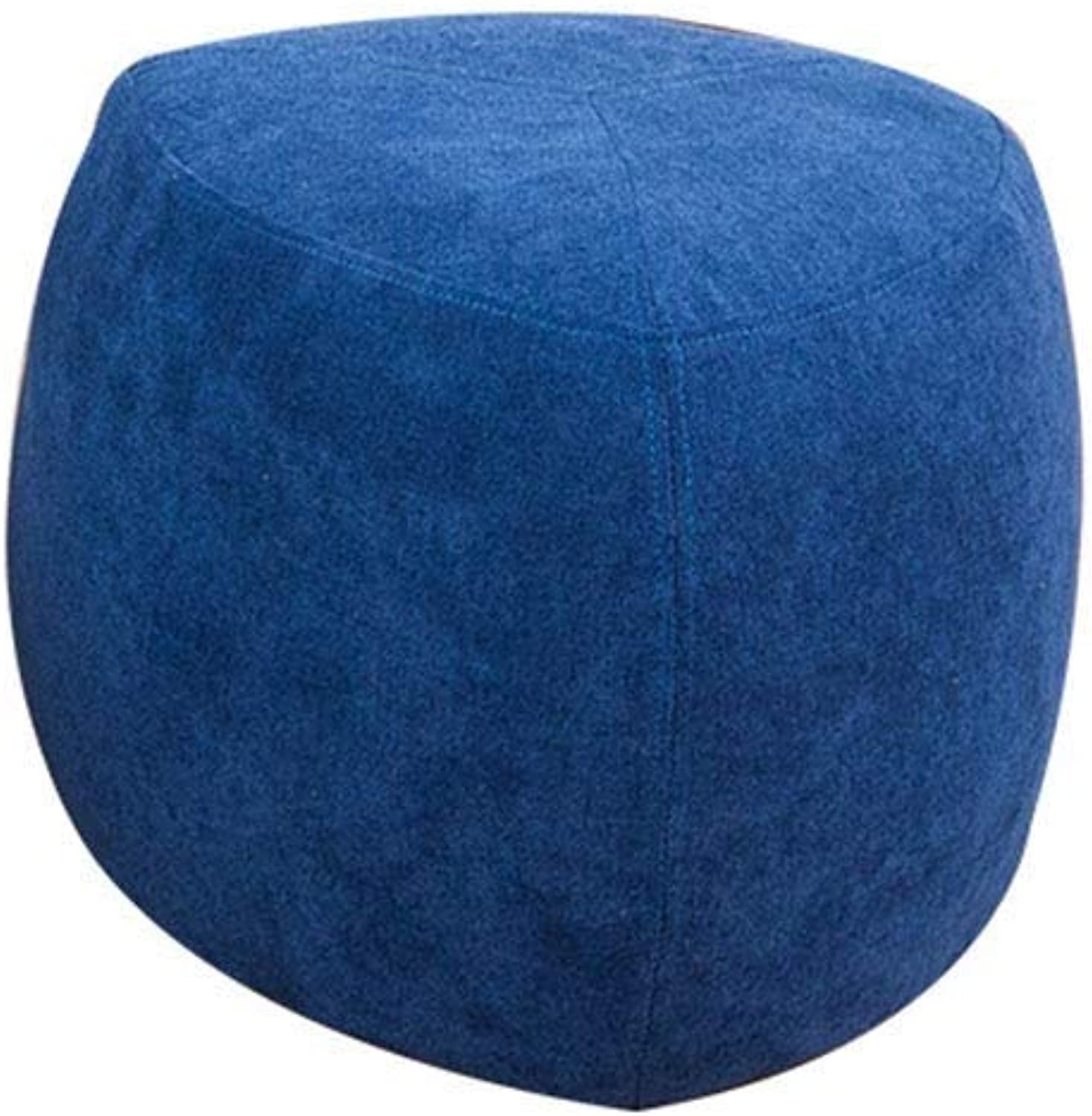Footstool, Simple Modern Stool Creative Lazy Sofa Bench Fabric Block Home Small Stool Multifunctional Storage Footstool (color   C, Size   42  34cm)