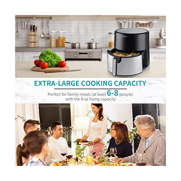 Ultrean 8 Quart Air Fryer, Electric Hot Air Fryers XL Oven Oilless Cooker with 8 Presets, LCD Digital Touch Screen and…