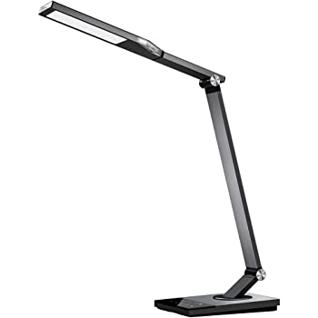 TaoTronics TT-DL16 Stylish Metal LED Desk Lamp, Office Light with 5V/2A USB Port, 5 Color Modes, 6 Brightness Levels, Touch Control, Timer, Night Light, Philips EnabLED Licensing Program