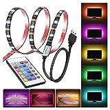 LED-Streifen-Lichter 5 V USB 5050rgb Stromversorgung Cutable Schnur-Licht mit Fernbedienung...