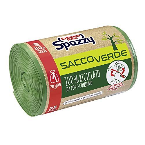 Domopak Spazzy Sacchi Nettezza Saccoverde Avvolgi & Chiudi 100% Riciclato Da Post-Consumo -...