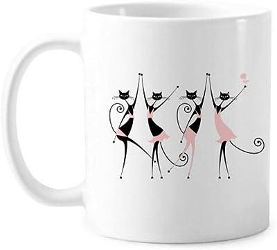 パーティーの乾杯の猫のハンドル350 mlと動物のペットラブクラシックマグカップ白陶器セラミックカップギフトミルクコーヒーを保護するのを祝う