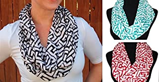 Best greek key infinity scarf Reviews