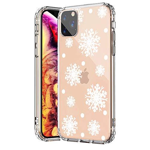 SevenPanda für iPhone 12 Mini Hülle, TPU Silikon Hülle Schutz Etui Hülle für iPhone 12 Mini 5.4 Zoll Durchsichtig mit Christmas Snowflake Muster Handyhülle - Weißen Schneeflocke