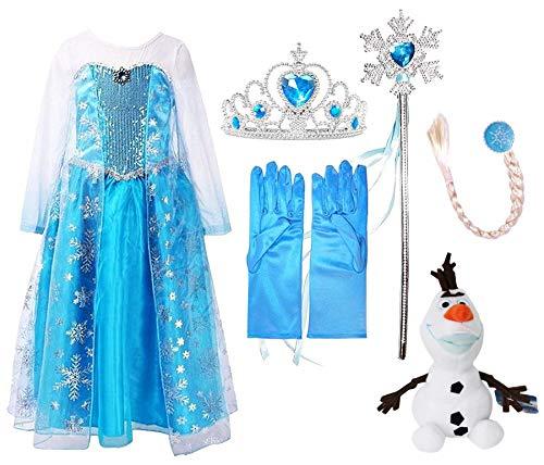 Perfect Pairz Princess Costumes Snow Queen + Bonus Plush Toy Elsa Costume 6Y