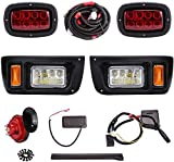 9.99WORLD MALL Golf Cart LED Headlight and Tail Light Kit for Club Car DS Carts with Turn Signals Assembly Horn Brake Lights Upgrade