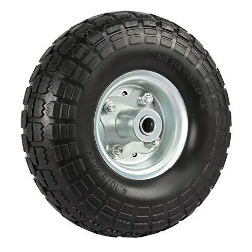 Yaheetech 4x Schubkarrenreifen Vollgummi Reifen, pannensicher Ersatzrad ohne Luft, Ø 255mm PU Rad mit Metallfelge, ideal für Hangwagen, Sackkarre