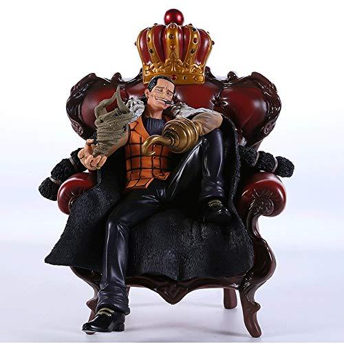 KaiWenLi One Piece/Sir Crocodile sitzt auf einem Stuhl/Anime-Charakter Modell/PVC Figur Figur/Bester Sammler/Dekoration/erwachsenes Spielzeug