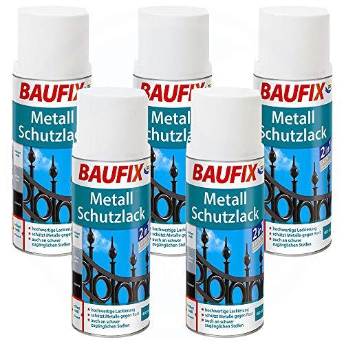 BAUFIX 0800804501 Metall-Schutzlack Spraylacke & Sprays, weiß