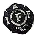 Authentic Classic IAFF Black UNION 3.75' Embroidered (hook/loop) Uniform Patch