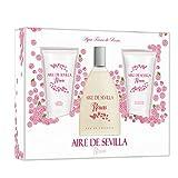 Aire De Sevilla Agua De Rosas Frescas Eau De Toilette Spray 150ml Set 3 Parti