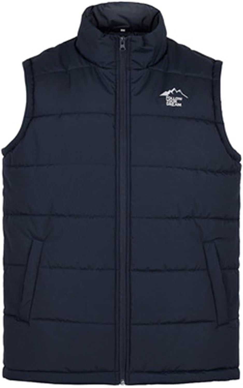 HONHUZH Men's Solid Sleeveless Puffer Vest Winter Slim Fit Jackets Zip Up Thermal Warm Thick Vest Sport Waistcoat Sweatshirt