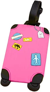 ZHUOTOP Luggage Id Tags Labels Name Address Id Plastic Suitcase Bag Travel Holiday 5