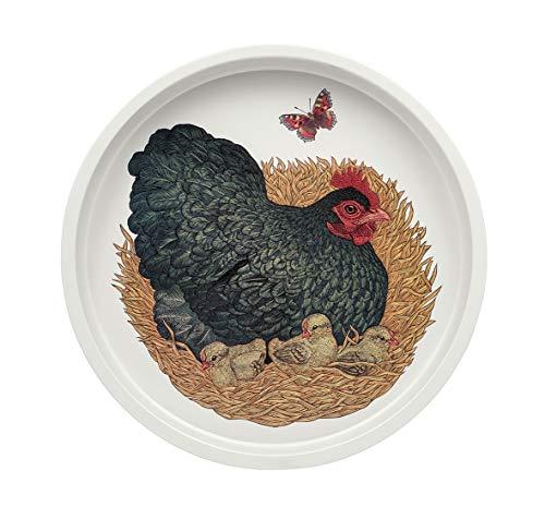 Vanessa Lubach Tablett Hühner tief 300 mm Durchmesser