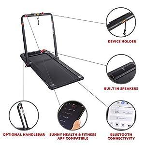 Sunny Health & Fitness Treadpad Flat Folding Treadmill with Premium Sound System – SF-T7970