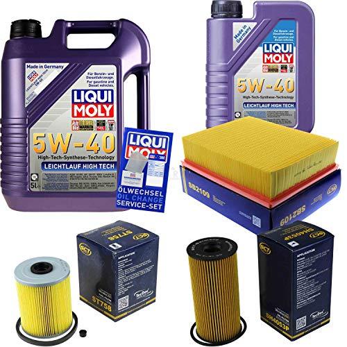 QR-Parts Set 85482797 ST 758 SH 4053 P 3863 3864 SB 2109 6L Liqui Moly High Tech 5W-40 + paquete de filtros SCT-Germany 11236859