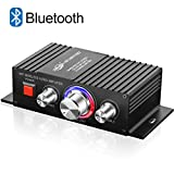 Mini HiFi Bluetooth Amplificateur TTMOW 50W x 2 Amplifier Audio Stéréo DC 12V 24V Super Bass Amplificateur de Puissance Audio pour Voiture et Voiture (Adaptateur Universel, Non Inclus)