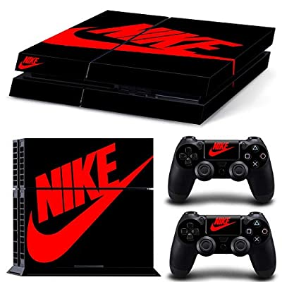 PS4 Whole Body Vinyl Skin Sticker Decal Cover for Playstation 4 System Console and Controllers - Black Shoebox