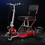 ZHAORU Scooter de Movilidad de 3 Ruedas, Scooter eléctrico portátil y liviano para Adultos,...