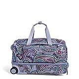 Vera Bradley Women's Duffle Luggage Vera Bradley Women s Lighten Up Foldable Duffel Rolling Suitcase Kona Paisley One Size, Kona Paisley, One Size US