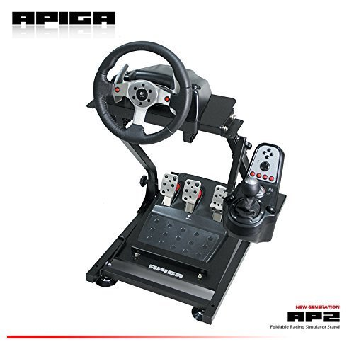 9436614c0cd Amazon.com: APIGA AP2 Foldable Racing Simulator Stand plus gearshift mount:  Video Games
