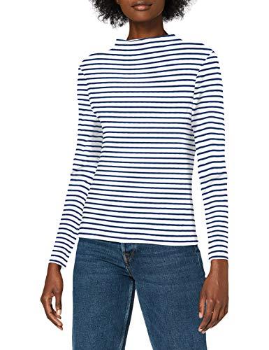 ONLY Damen ONLVALERIA L/S TOP Box JRS Bluse, Cloud Dancer-Sodalite Blue, L