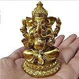 wgd Foxi Dorado Lord Ganesha Estatua Buda, Hindú Elefante Dios Escultura Figuras, Estatuas De Resina...
