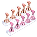 2 Sets Acrylic Nail Display Stand,Magnetic...