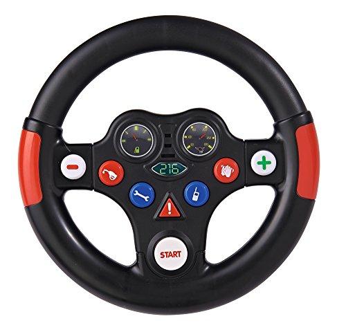 BIG Racing Sound Wheel Lenkrad mit Racingsound, für Bobby Cars ab dem Baujahr 2010, sowie für BIG Traktoren, Spielzeuglenkrad für Kinder ab 1 Jahr