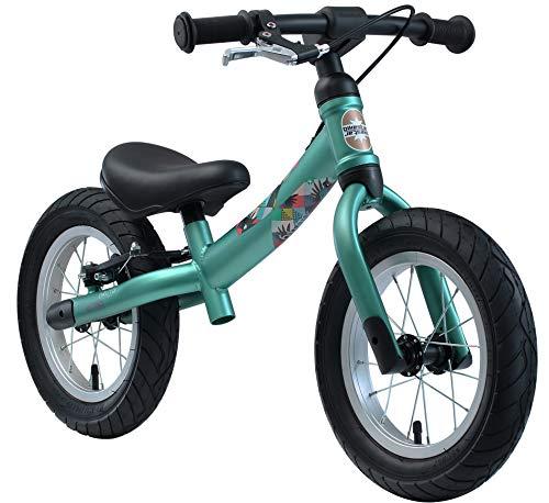 BIKESTAR 2-in-1 Bicicletta Senza Pedali 3 - 4 Anni per Bambino et Bambina  Bici Senza Pedali Bambini con Freno 12 Pollici Sportivo  Verde