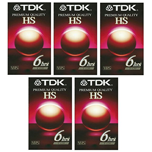 Find Discount TDK Premium Quality HS 6Hrs T-120 VHS 5pk