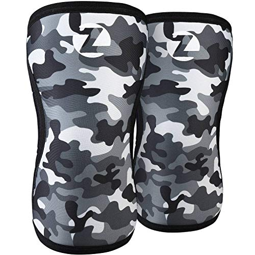 Knee Sleeves(1 Pair) Compression & Support for Weightlifting, WOD, Squats, Gym, Powerlifting & Crossfit-7mm Neoprene Knee Brace-Both Women & Men,Camo (Camo, Medium)