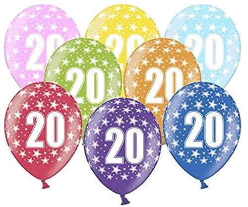 10 kunterbunte Luftballons Metallic 30cm Deko zum Geburtstag Party Kindergeburtstag Happy Birthday Dekoration (Nummer 20)