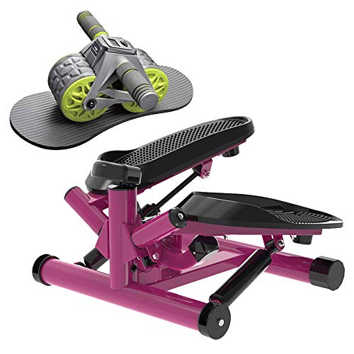 leikefitness Twist Stair Stepper 6610(Purple) and Ab Carver Wheel Roller with Intelligent Display 1301 Bundle