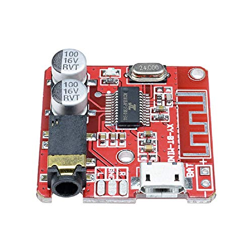2pcs MP3 Bluetooth Decoder Board Lossless Car Speaker Audio Amplifier Board Modified Bluetooth 4.1 Circuit Stereo Receiver Module 5V