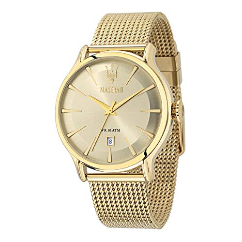 Reloj para Hombre, Colección Epoca, Movimiento de Cuarzo, Solo Tiempo con Fecha, en Acero, PVD Oro - R8853118003