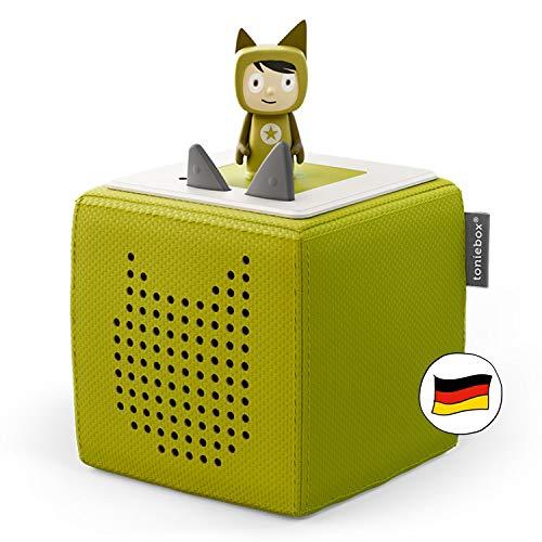 Toniebox Starterset in Grün: Toniebox + Kreativ-Tonie - Der tragbare Lautsprecher für Tonies Hörfiguren und...