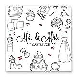 Cupcakes & Kisses® Gästebuch zur Hochzeit MR & MRS zum