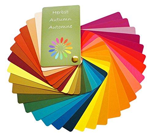 Farbpass Herbst (warm Autumn) als Fächer mit 30 typgechten Farben zur Farbanalyse, Farbberatung