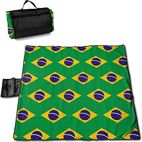 XFF Picknickmatte Stranddecke Campingdecke Picknickdecken Personalisierte Grüne wasserdichte Und Sanddichte Tragbare Faltbare Übergroße Picknickdecke, 1,45 * 1,5 M