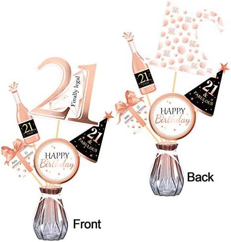 21st birthday centerpieces _image0