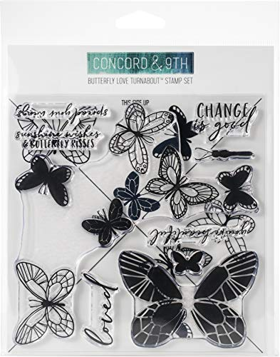 Concord & 9th Clear Stamps 6'X6'-Butterfly Love Turnabout