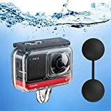 Dive Case for Insta360 ONE R 360 Degree Action Camera, TELESIN Waterproof Housing Underwater Diving Shell 45M/148FT with Thumbscrew Accessory -12 PCS Anti-Fog Insert Kits