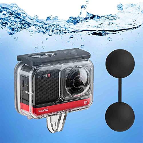Buceo Carcasa Impermeable para Insta360 One R de 360 Grados, Funda Protectora Submarina 45M/148FT con Accesorios para Soporte para Insta 360 One R, 12 Insertos antivaho