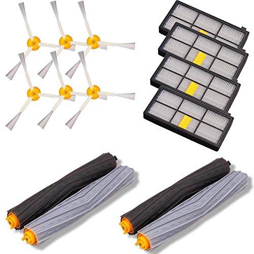 Zubehör Parts Kit für iRobot Roomba, starall Ersatz Kit 4Filter + 6Bürste + 2Paar Schlägel Ersatzteile Kit Vakuum Reinigung Werkzeug für iRobot Roomba 800/900/600Serie (12in 1)